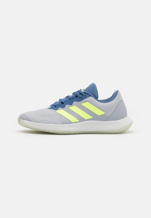 FORCEBOUNCE - Handball shoes - half silver/hi-res yellow/blue