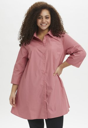 3/4 SLEEVE - Button-down blouse - dusty rose