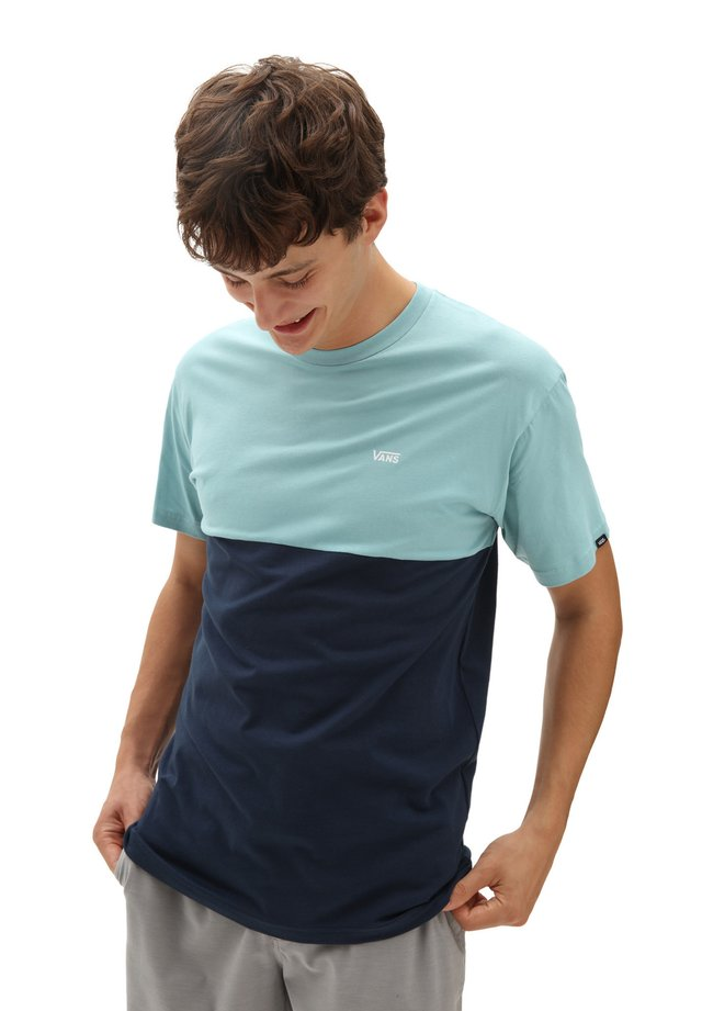 MN COLORBLOCK TEE - T-shirt con stampa - dress blues/cameo blue
