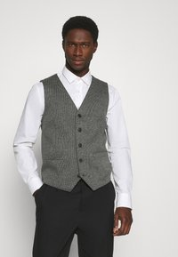 TOM TAILOR - HOUNDSTOOTH - Waistcoat - grey houndstooth - 0