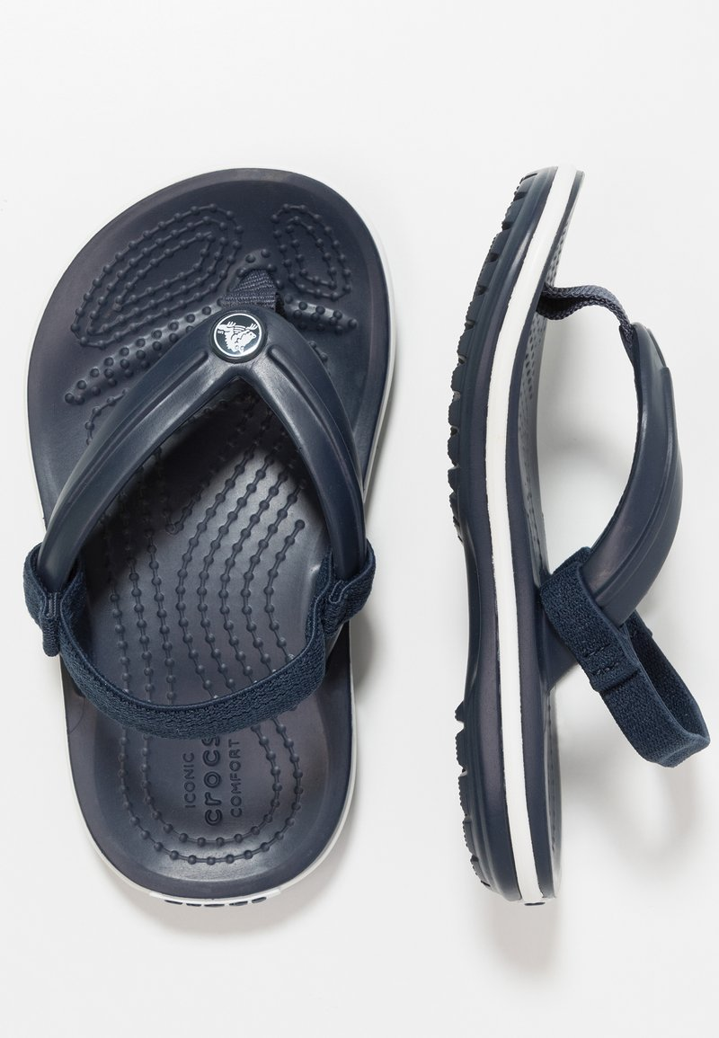 Crocs - CROCBAND STRAP FLIP RELAXED FIT - Pool shoes - navy