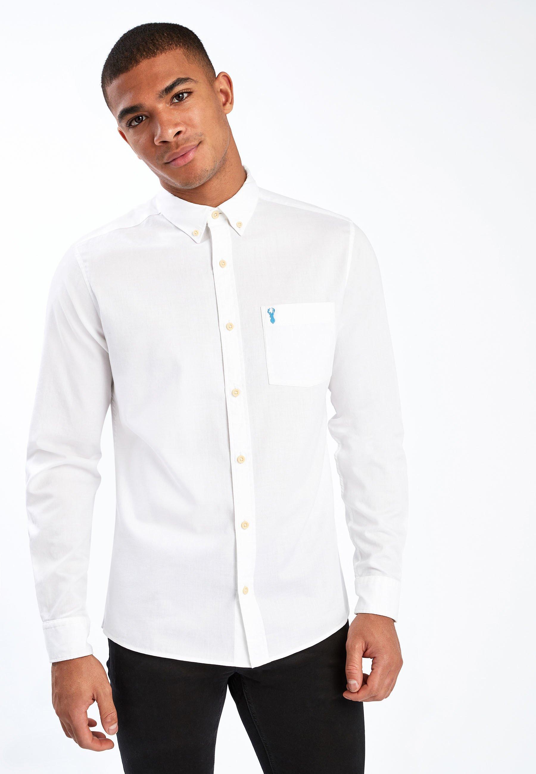 Herren WHITE SLIM FIT SLIM FIT LIGHT TWILL SHIRT - Businesshemd