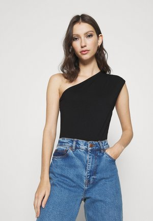 ONE SHOULDER SLEEVELESS BODY - Débardeur - black