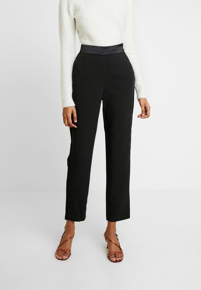 TUXEDO PANT - Spodnie materiałowe - black