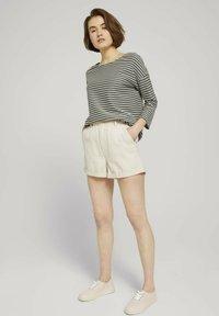 TOM TAILOR DENIM - Long sleeved top - pine green melange stripe - 1
