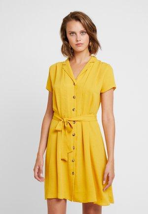 PLAIN DRESS - Blusenkleid - ochre