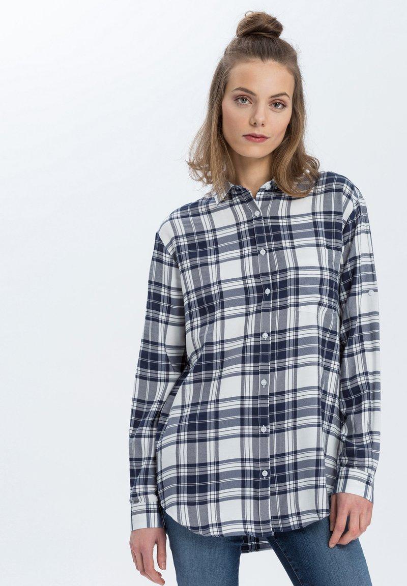 Cross Jeans - Button-down blouse - navy