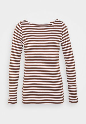 STRIPE LONGSLEEVE - Long sleeved top - brown