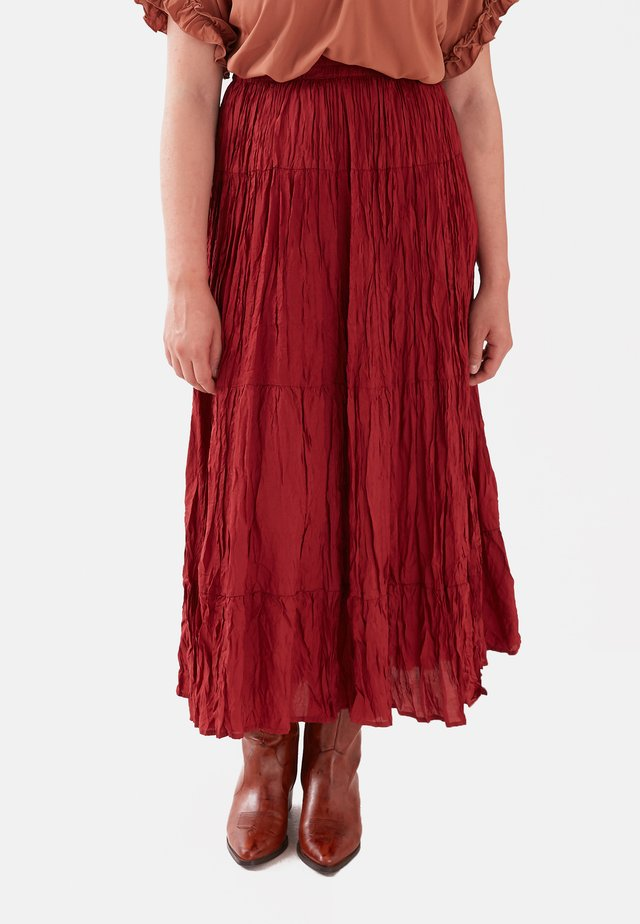 Pleated skirt - rosso