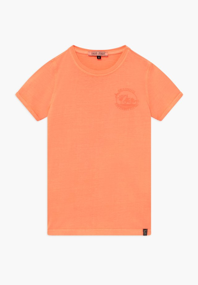 KIDS IRVY - T-shirt med print - fluor coral