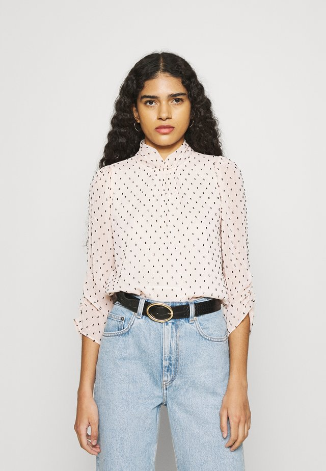 BILLIE AND BLOSSOM DOBBY TWIST NECK - Long sleeved top - blush
