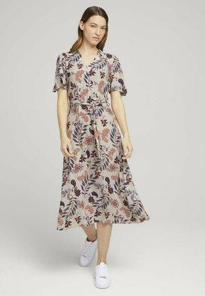 Shirt dress - white floral design