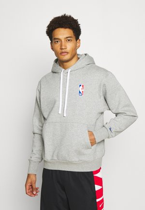 NBA LOGO HOODIE - Sweat à capuche - dark grey heather/rush blue