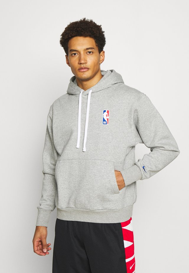 NBA LOGO HOODIE - Kapuzenpullover - dark grey heather/rush blue