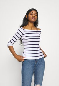 Anna Field Petite - Print T-shirt - white/dark blue - 0