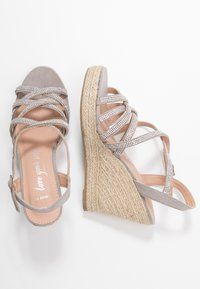 New Look Wide Fit - WIDE FIT OSPARKLE - High heeled sandals - mid grey - 3