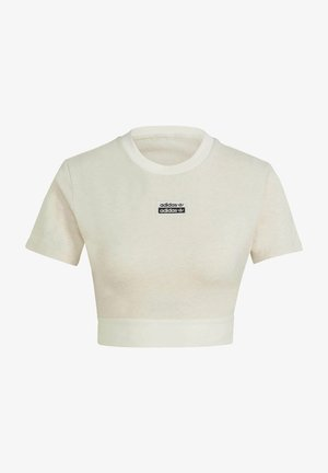 R.Y.V. CROP TOP - T-shirts basic - white