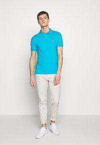 Polo Ralph Lauren - SLIM FIT MESH POLO SHIRT - Polo shirt - cove blue - 1