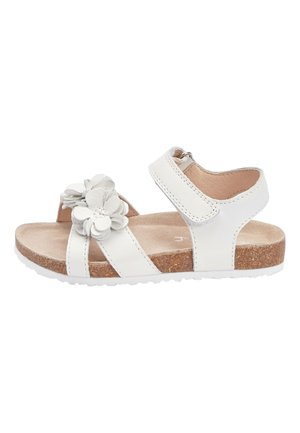 PINK CORKBED FLOWER SANDALS (YOUNGER) - Chodecké sandály - white