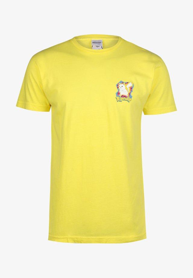 Printtipaita - yellow