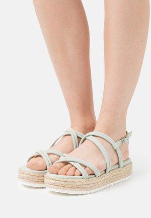 AMELIE - Platform sandals - menta