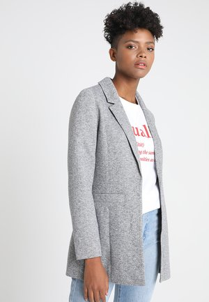 NMREKA LONG - Kort kåpe / frakk - light grey melange