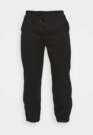 EBERLEIN WITH ROLL UP - Trousers - black
