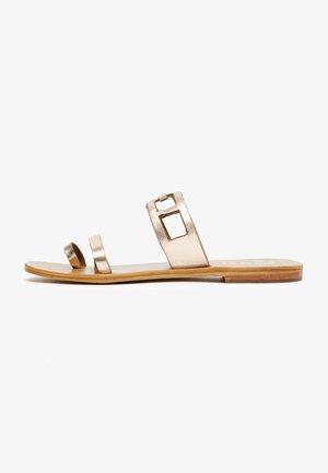 LERIA  - T-bar sandals - rose gold