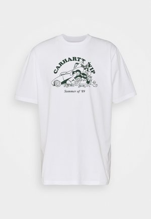 FLAT TIRE - T-shirt med print - white