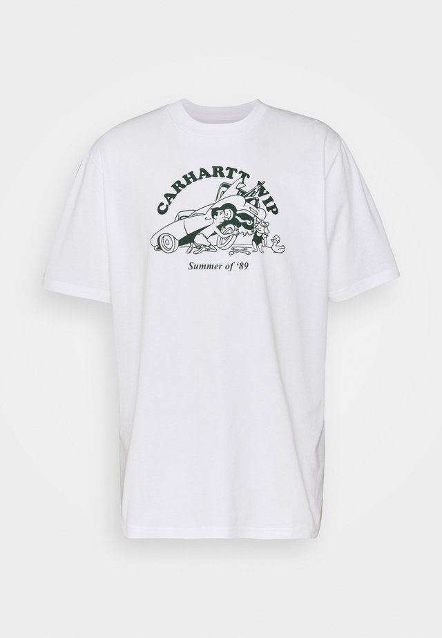 FLAT TIRE - T-shirts print - white