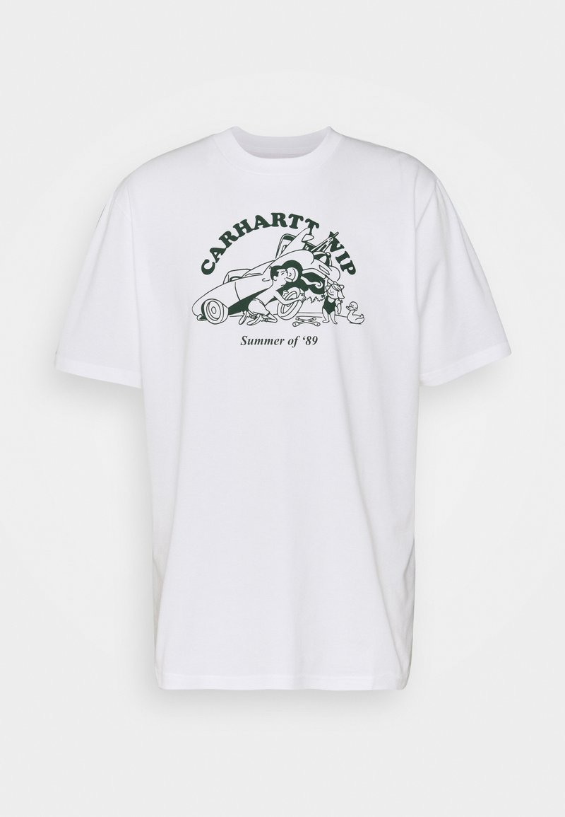 Carhartt WIP - FLAT TIRE - Printtipaita - white