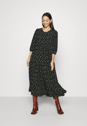 TIERED MIDAXI DRESS - Day dress - black