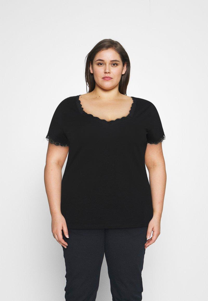 Anna Field Curvy - T-shirt imprimé - black