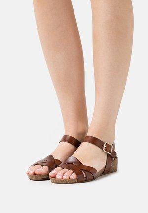 JADE - Wedge sandals - tan