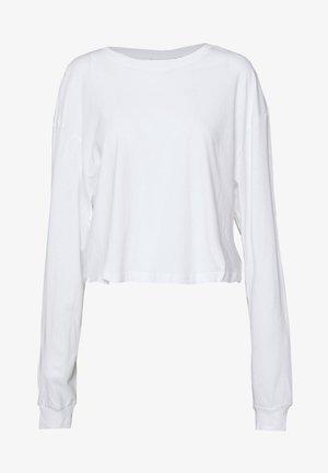 ALLY BOXY LONG SLEEVE - Topper langermet - white