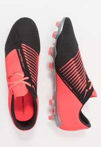 Nike Performance - PHANTOM PRO FG - Moulded stud football boots - laser crimson/metallic silver/black - 1