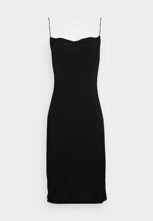 DRAPPY MINI DRESS - Day dress - black