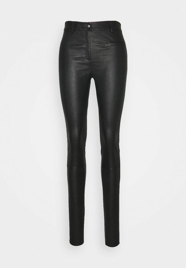 SLFURBAN STRETCH PANT - Pantalón de cuero - black