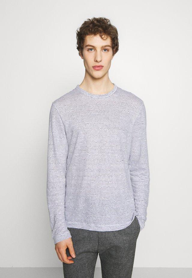CREW  - T-shirt imprimé - white / navy