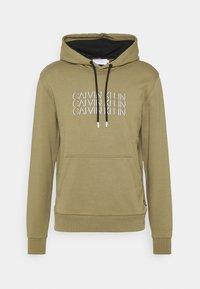 Calvin Klein - TRIPLE CENTER LOGO HOODIE - Sweatshirt - green - 4