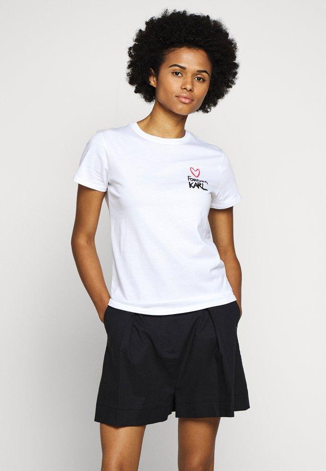 FOREVER - T-Shirt print - white