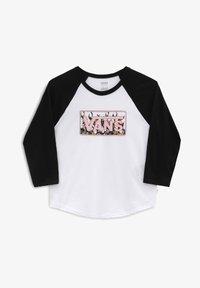 Vans - FLORAL FLAME - Long sleeved top - white/black - 2