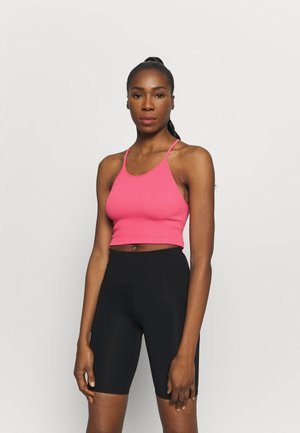 CROPPED RUN TANK - Fitness/yoga - vivid coral