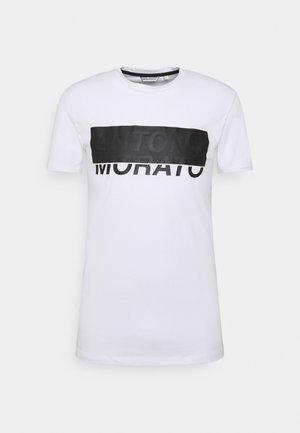 SUPER SLIM FIT STRETCH - Print T-shirt - white