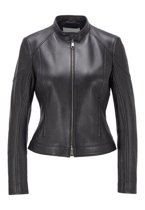 SAFLAMA - Leather jacket - black