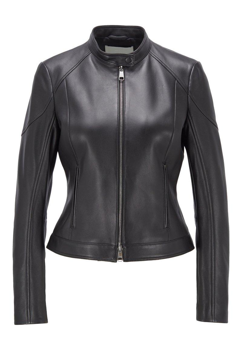 BOSS - SAFLAMA - Leather jacket - black