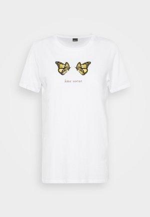 IDA TEE - Print T-shirt - white