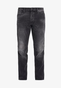 CITISHIELD SLIM TAPERED - Straight leg jeans - soot black stretch denim - worn in flint grey wp