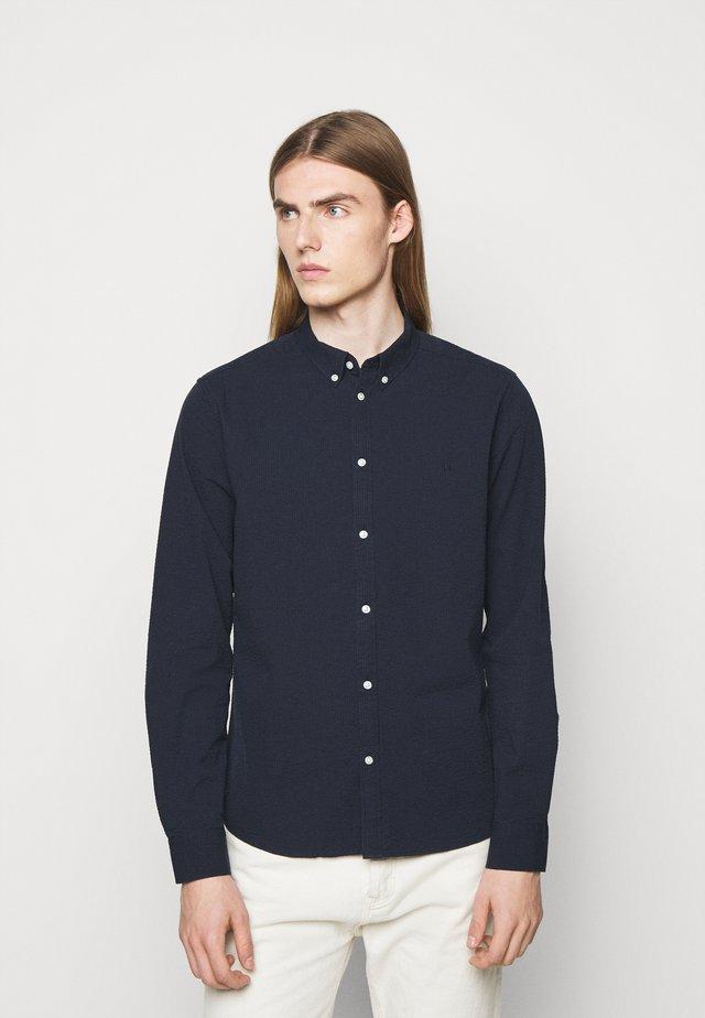 CHRISTOPH SEERSUCKER - Shirt - dark navy