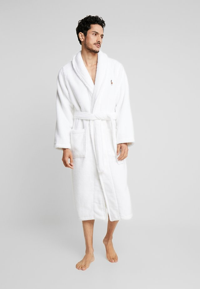 SHAWL COLLAR ROBE - Dressing gown - white